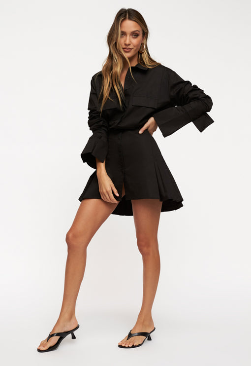 Cover Girl Mini Dress - BLACK