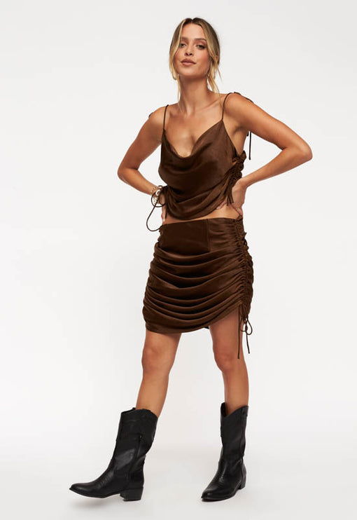 String Along Skirt - BROWN