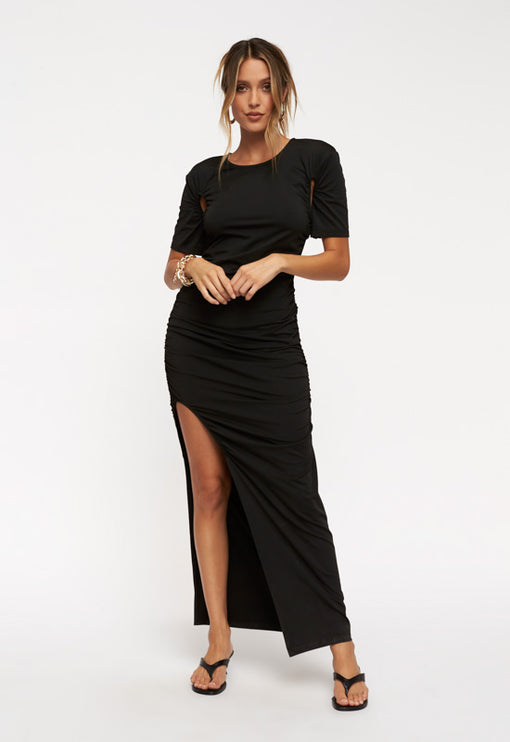 Hips Don't Lie Maxi Dress - BLACK