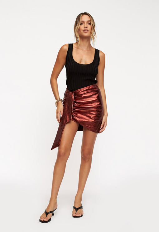 Diamonds In The Sky Mini Skirt - RUST