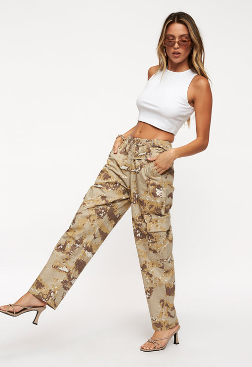 Bad Habits Pant - NUDE CAMO
