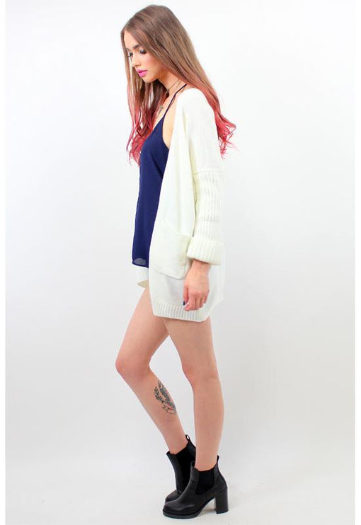 Spellbound Slouch Cardigan - CREAM