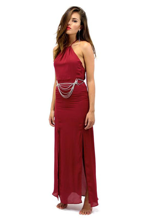 Lorde Maxi Dress - WINE
