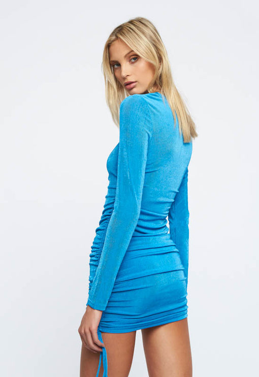 East Village Mini Dress - BLUE