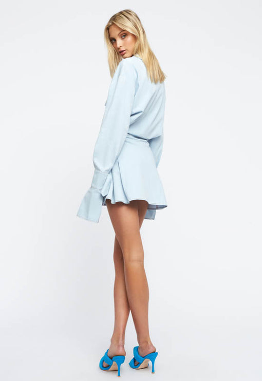 Cover Girl Mini Dress - LIGHT BLUE