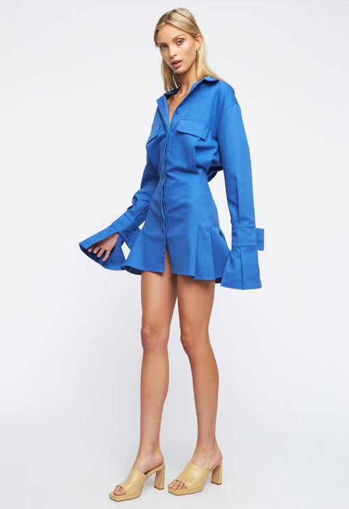 Cover Girl Mini Dress - BLUE