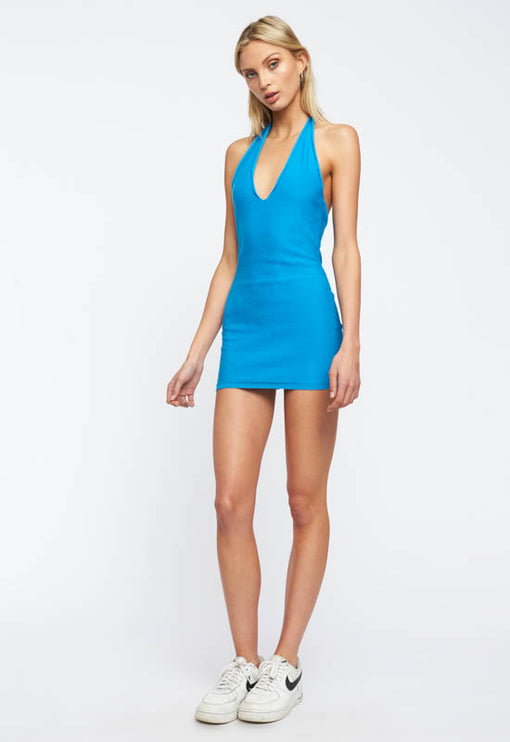 Heavenly Sent Mini Dress - BLUE