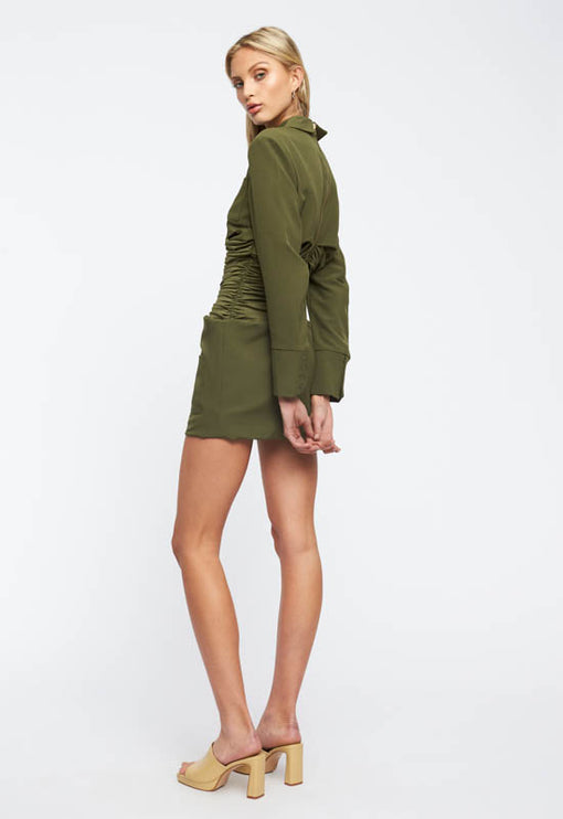 The Sweetest Thing Mini Dress - KHAKI