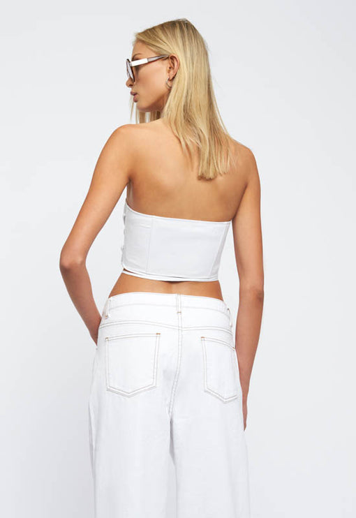 Untie Me Top - WHITE
