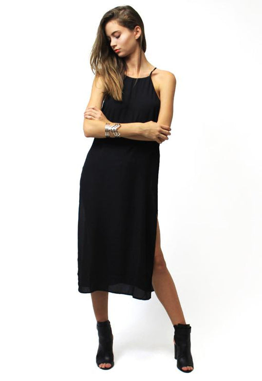 Limitless High Neck Top - BLACK