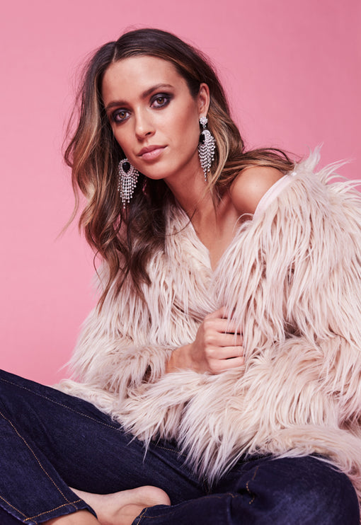 Portofino Faux Fur - BLUSH