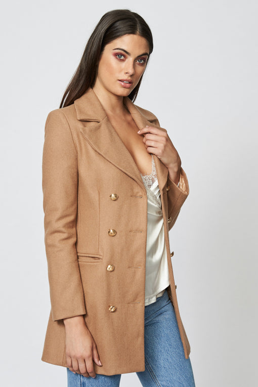 Bad Romance Coat - CAMEL