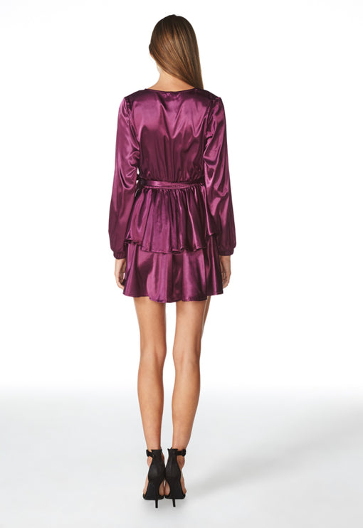 Chambord Tiered Dress - PLUM