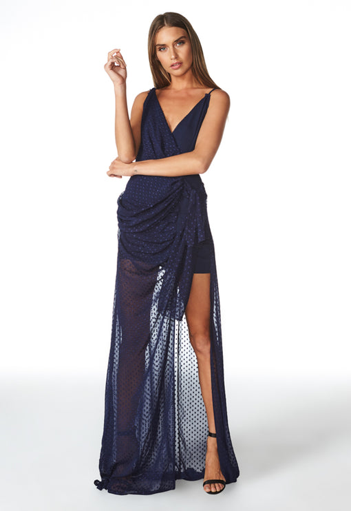 Take Me To Cannes Maxi Dress - NAVY