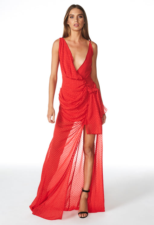 Take Me To Cannes Maxi Dress - RED
