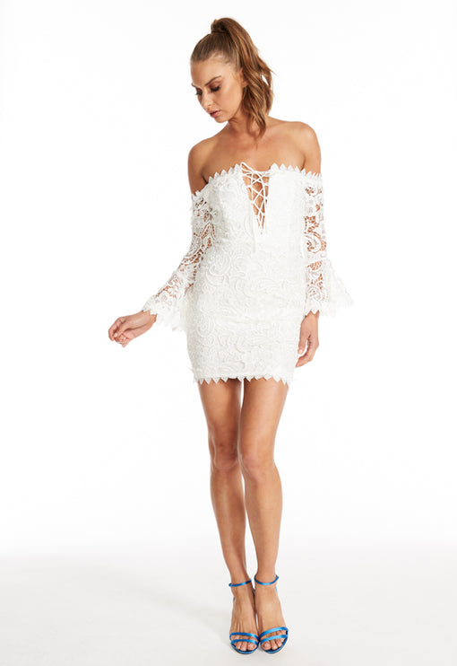 Kiss On The Lips Dress - WHITE