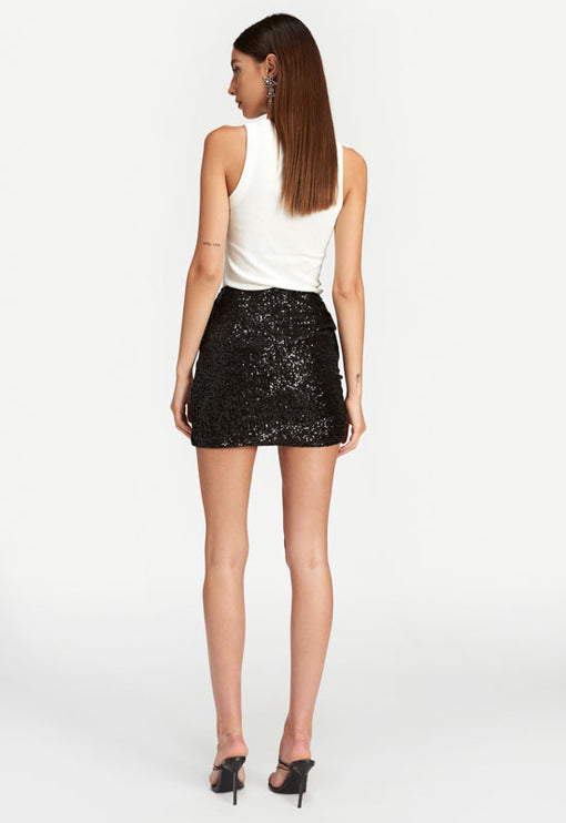 Diamonds In The Sky Mini Skirt - BLACK