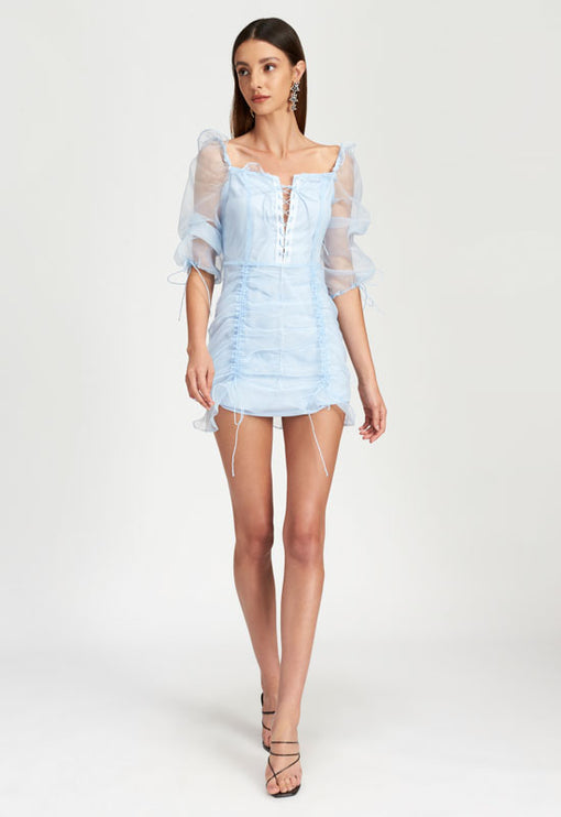 Feng Shui Mini Dress - BLUE
