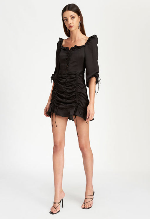 Feng Shui Mini Dress - BLACK