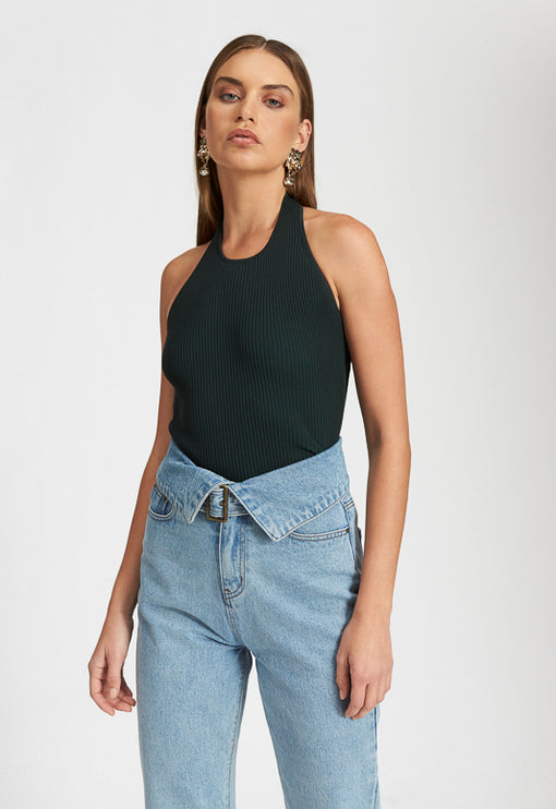 Stone Cold Top - FOREST GREEN