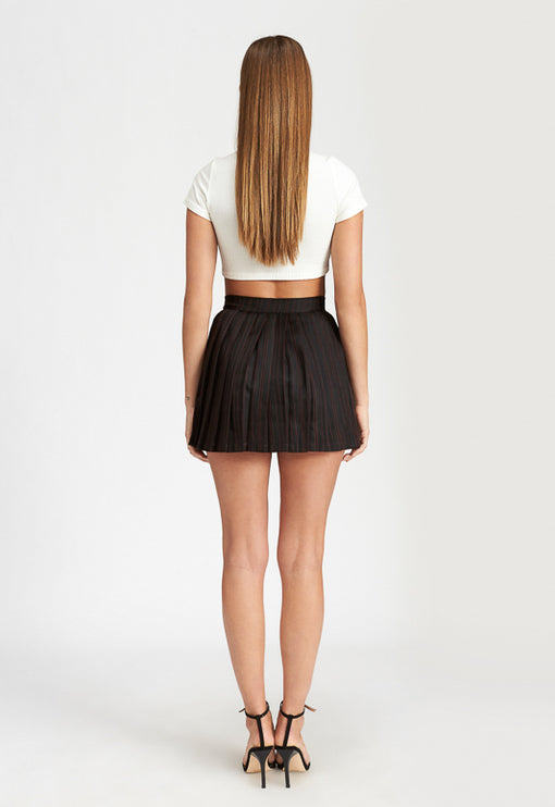 High Life Pleat Skirt - BLACK