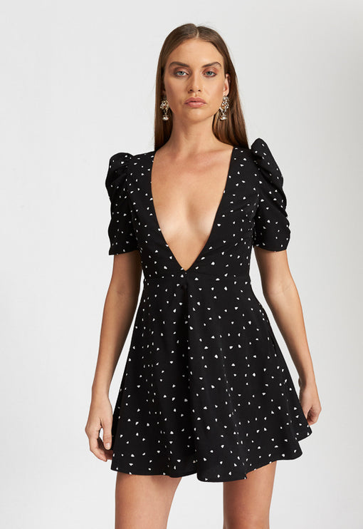 Ask Anything Mini Dress - HEARTS