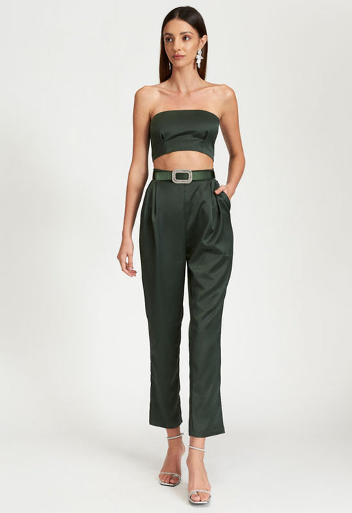 Kiss And Make Up Jumpsuit - KHAKI