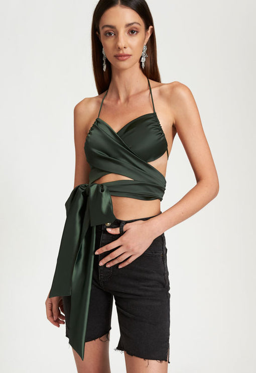 Hands Off Me Crop - KHAKI