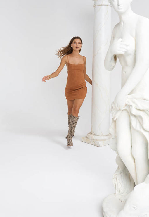 Versailles Mini Dress - TAN
