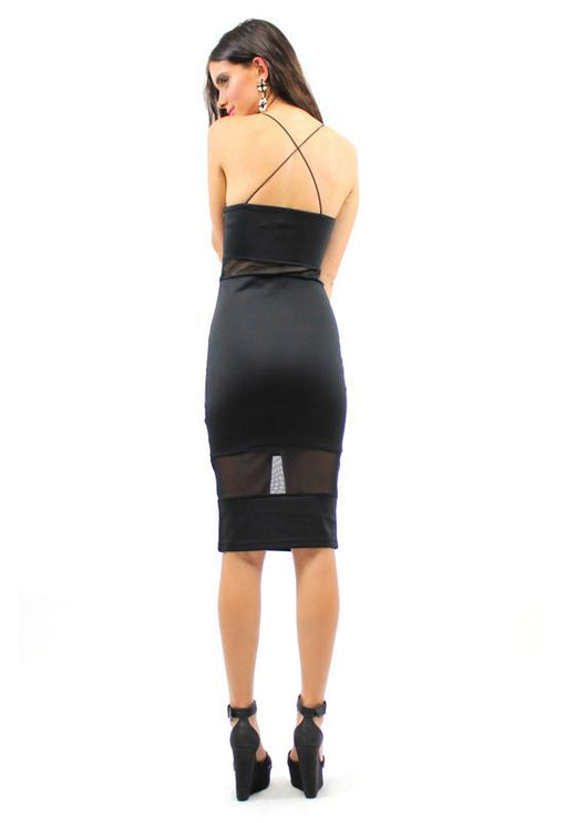 Wild Heart Mesh Dress - BLACK