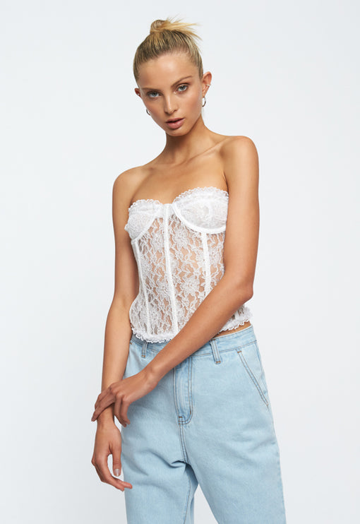 The Plaza Bustier - WHITE