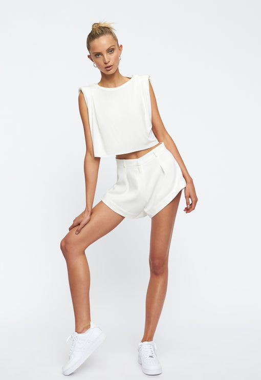 In Bloom Mini Short - WHITE