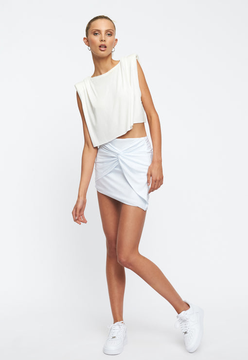 Marmont Mini Skirt - WHITE