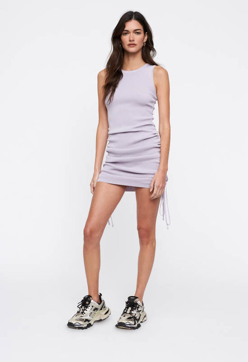 Military Minds Mini Dress - DUSTY PURPLE