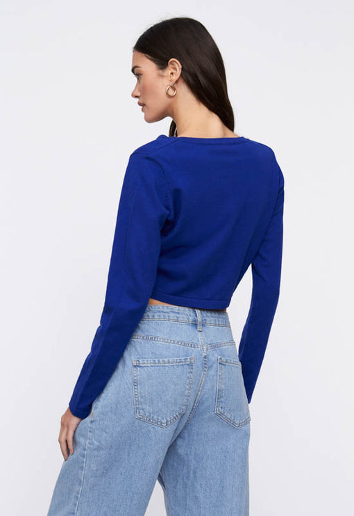 Cher Cropped Cardi - COBALT