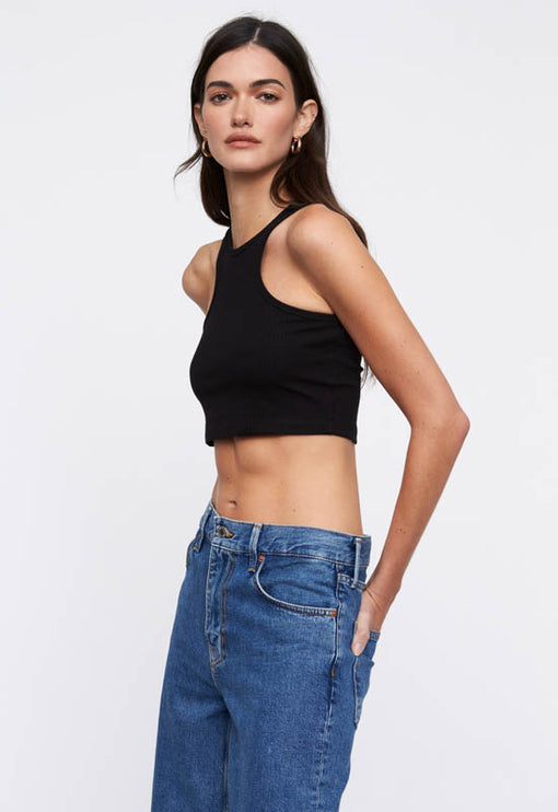 Out Of Reach Crop Top - BLACK<br><b>2 FOR $50</b></br>