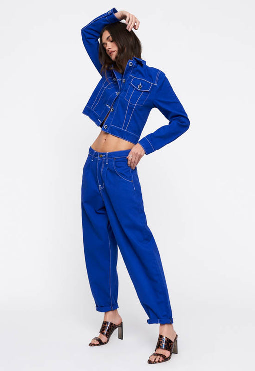 On My Way Denim Jean - COBALT BLUE