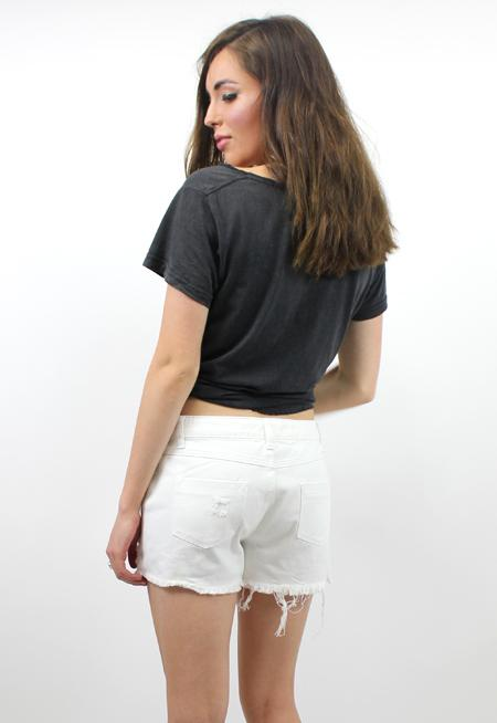 DAHLI Rumi Denim Shorts - WHITE