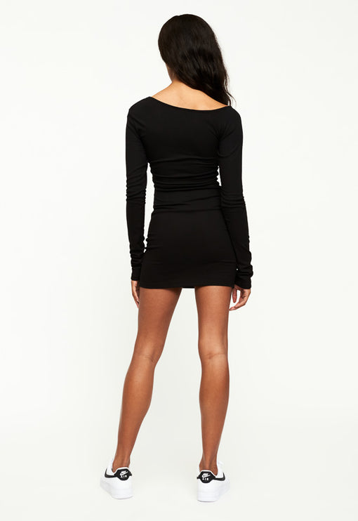 Gramercy Mini Dress - BLACK