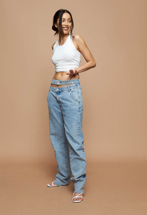 Nothing But A Dream Jeans - BLUE DENIM