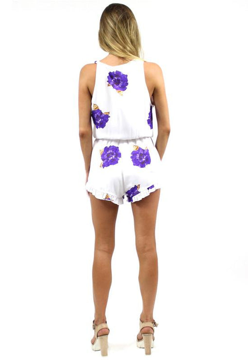Wild Things Playsuit - BLUE FLORAL