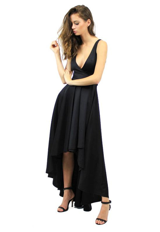 Best Revenge Wrap Dress - BLACK