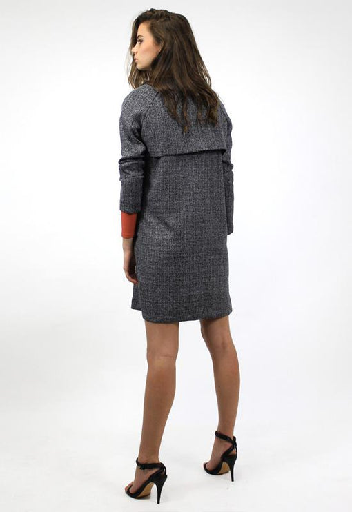 Double Take Trench Coat - GREY