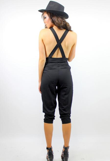 DAHLI Peaches Plunge Jumpsuit - BLACK