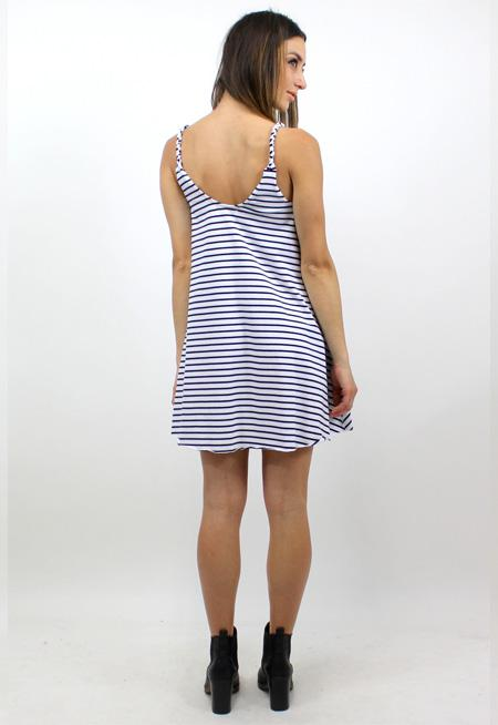 The Heat Dress - NAVY STRIPE