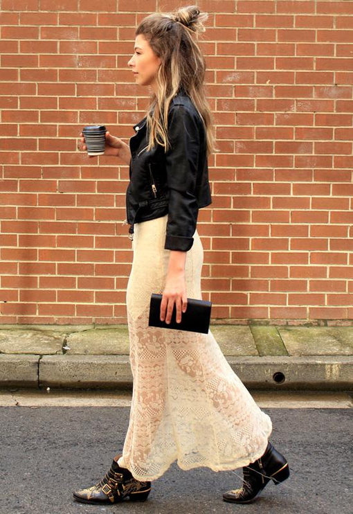 Maiden Lace Maxi Skirt - CREAM
