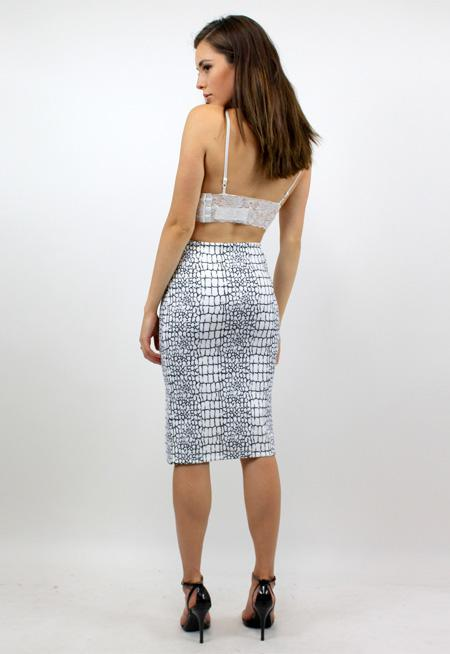 First In Line Neoprene Skirt - CRACK PAINT