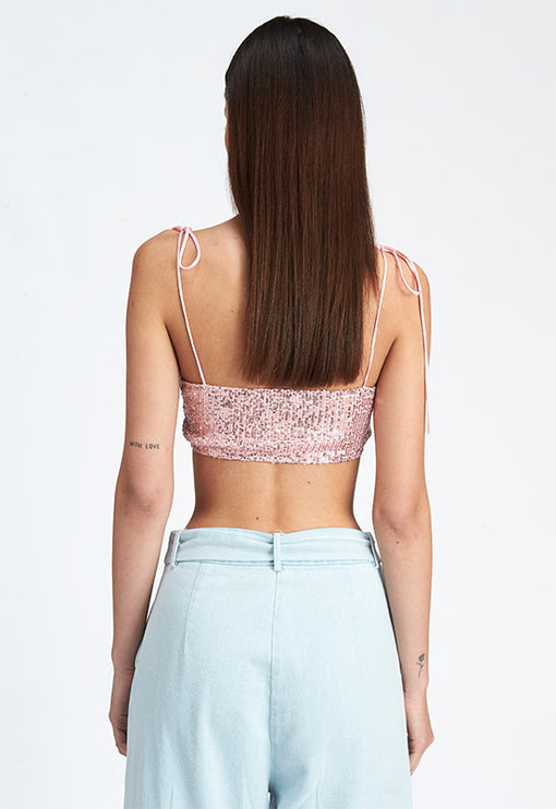 Lula Crop Top - BLUSH