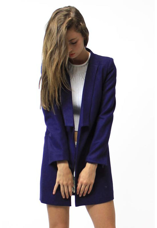 New Jupiter Lapel Coat - ROYAL BLUE