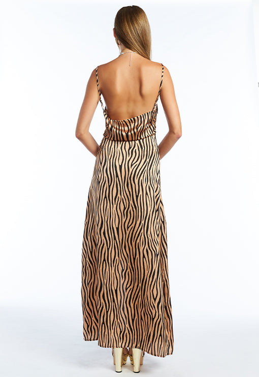 Golden Hour Maxi Dress - GOLD ZEBRA